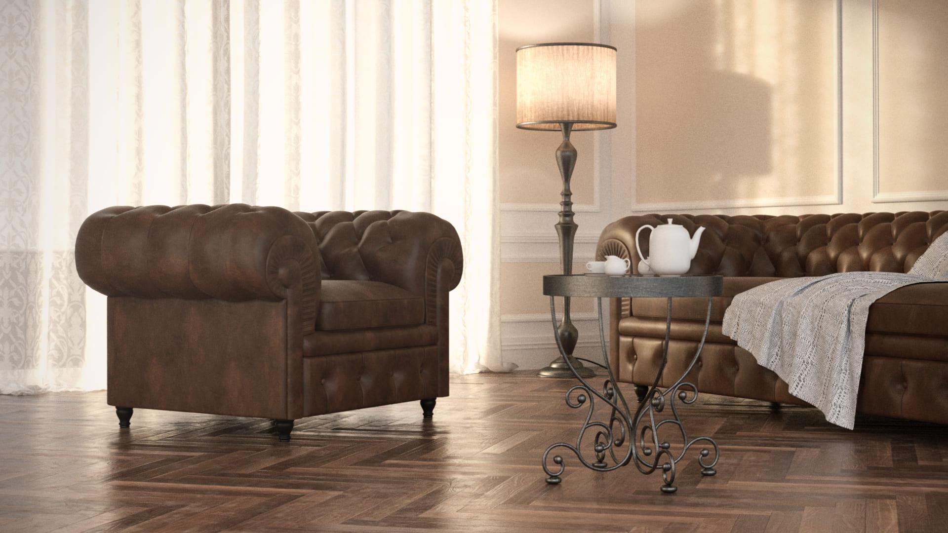 Rendering fotorealistici interni soggiorno classico for 3d interni